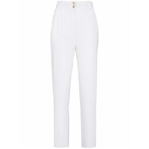 Imagen principal de producto de Versace pantalones slim de talle medio - Blanco - Versace