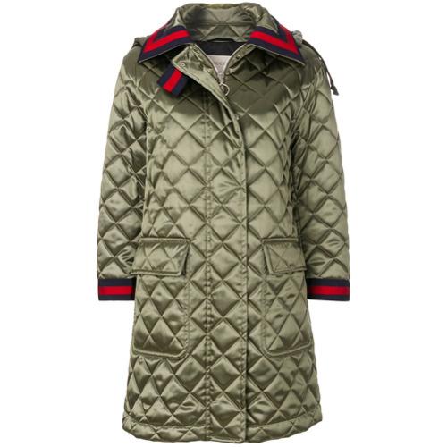 Imagen principal de producto de Gucci abrigo acolchado con capucha - Verde - Gucci