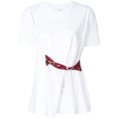Imagen principal de producto de Carven camiseta con detalle en la cintura - Blanco - Carven