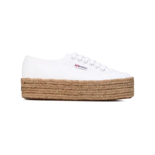 Imagen principal de producto de Superga zapatillas con cordones y plataforma - Blanco - Superga