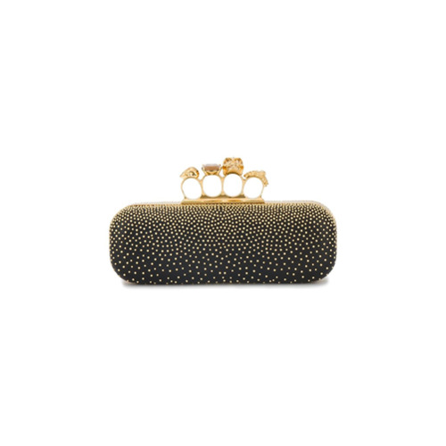 Alexander McQueen Studded Leather Knuckle Box