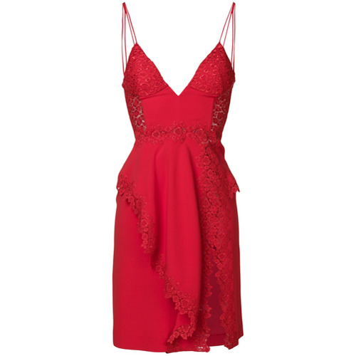 Imagen principal de producto de La Perla vestido con abertura lateral - Rojo - La Perla