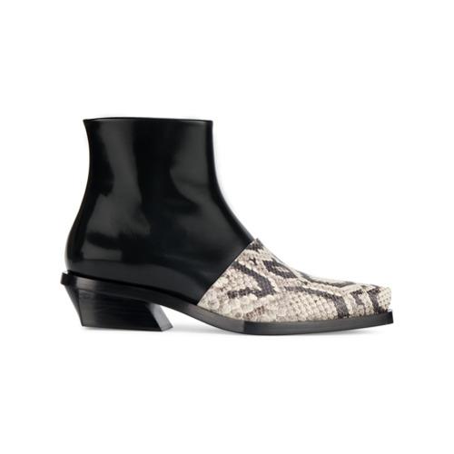 Imagen principal de producto de Proenza Schouler botines con puntera de piel de serpiente - Negro - Proenza Schouler