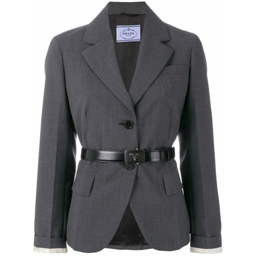Imagen principal de producto de Prada blazer con botones - Gris - Prada