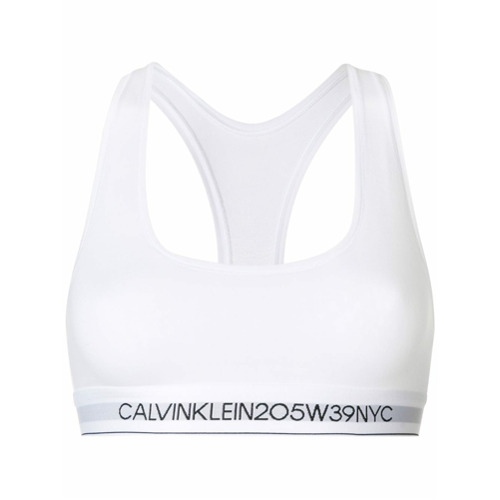 Imagen principal de producto de Calvin Klein Underwear sujetador con banda con logo - Blanco - Calvin Klein