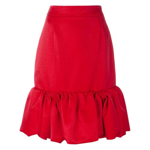 Imagen principal de producto de Prada falda con dobladillo de volantes - Rojo - Prada