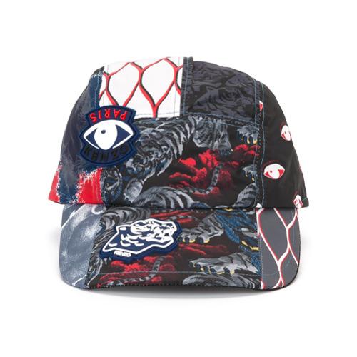 Kenzo gorra con múltiples iconos - Negro