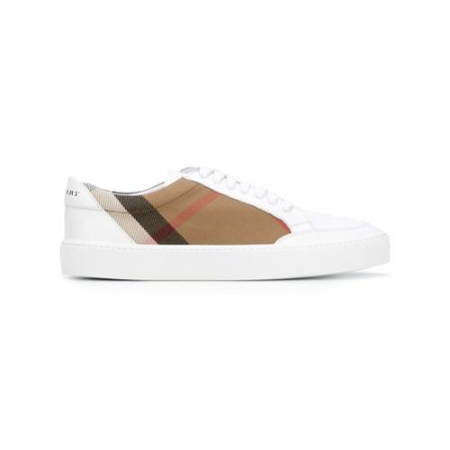 Imagen principal de producto de Burberry zapatillas de cuadros House - Blanco - Burberry