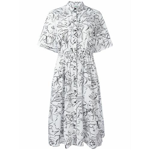 Imagen principal de producto de Kenzo vestido camisero Sketches - Blanco - Kenzo