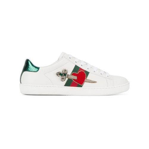 Imagen principal de producto de Gucci zapatillas Heart Dagger Ace - Blanco - Gucci