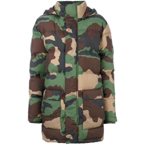 Imagen principal de producto de Moschino chaqueta acolchada con estampado militar - Verde - Moschino