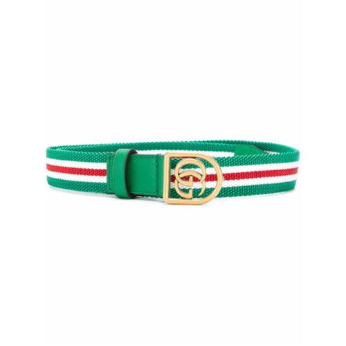 Imagen principal de producto de Gucci cinturón GG a rayas - Verde - Gucci