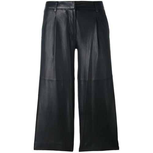 Imagen principal de producto de Michael Michael Kors pantalones de estilo capri de piel - Negro - MICHAEL Michael Kors