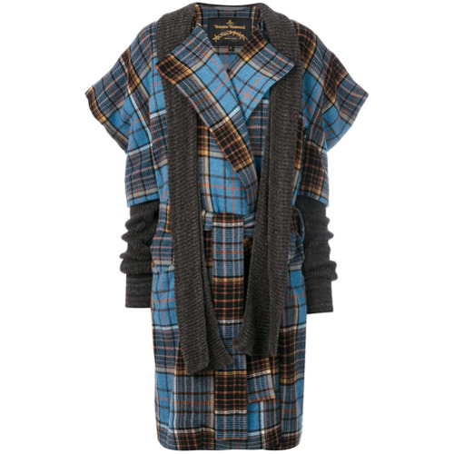Imagen principal de producto de Vivienne Westwood Anglomania abrigo a cuadros Dionysian - Azul - Vivienne Westwood Anglomania