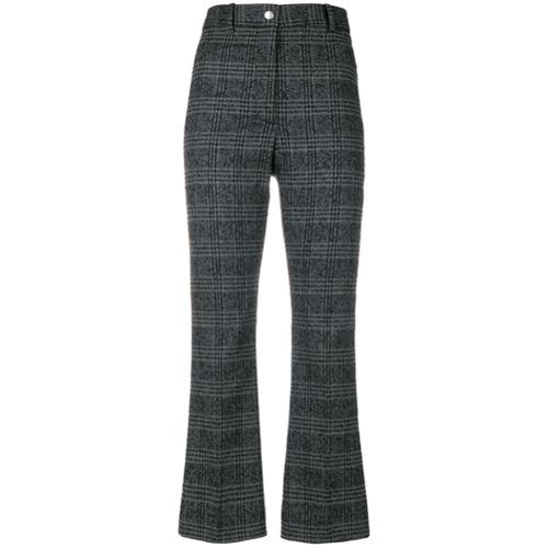 Imagen principal de producto de Wood Wood pantalones a cuadros estilo capri - Gris - Wood Wood
