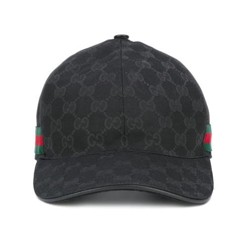 Gucci gorra de béisbol con detalle de tribanda Original GG - Negro