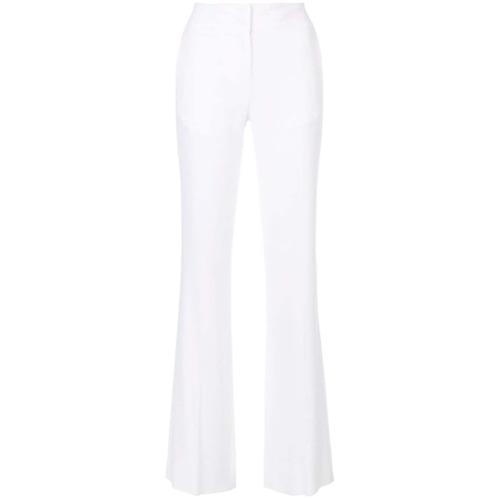 Imagen principal de producto de Just Cavalli pantalones acampanados con talle alto - Blanco - Just Cavalli