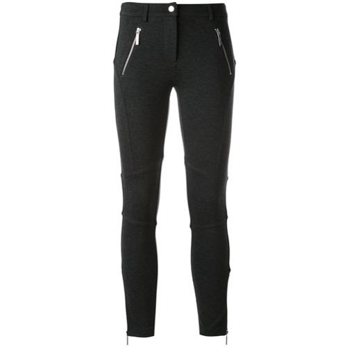 Imagen principal de producto de Michael Michael Kors pantalones pitillo con cremallera en las piernas - Gris - MICHAEL Michael Kors