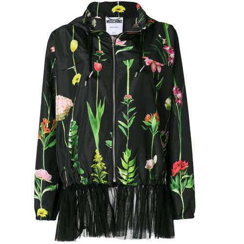 Imagen principal de producto de Moschino chaqueta bomber con motivo floral - Negro - Moschino