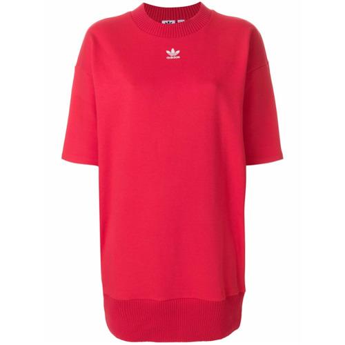 Imagen principal de producto de Adidas vestido estilo camiseta con logo - Rojo - Adidas