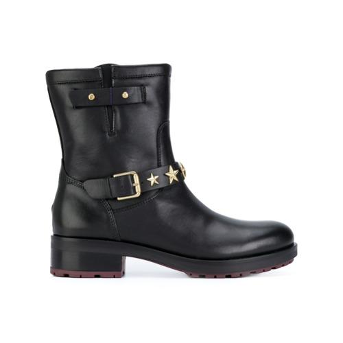 Imagen principal de producto de Tommy Hilfiger botas con correa y apliques de estrellas - Negro - Tommy Hilfiger
