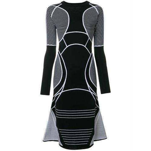 Imagen principal de producto de Versace vestido acampanado con contraste - Negro - Versace