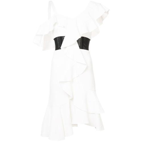 Imagen principal de producto de Proenza Schouler vestido con ribetes de volantes - Blanco - Proenza Schouler