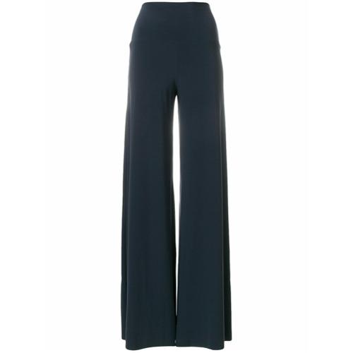 Imagen principal de producto de Norma Kamali pantalones palazzo lisos - Gris - Norma Kamali