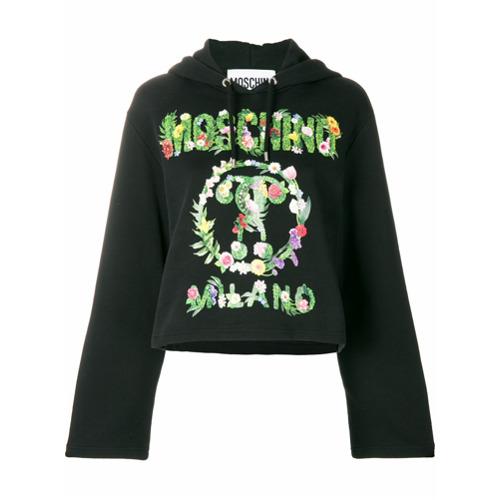 Imagen principal de producto de Moschino sudadera con capucha y signos de interrogación - Negro - Moschino