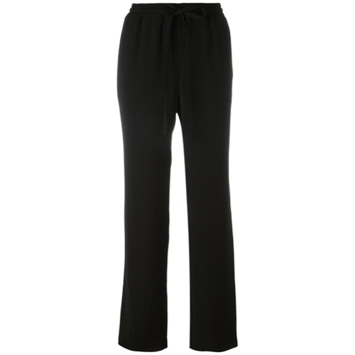 Imagen principal de producto de Michael Michael Kors pantalones holgados con lazo - Negro - MICHAEL Michael Kors