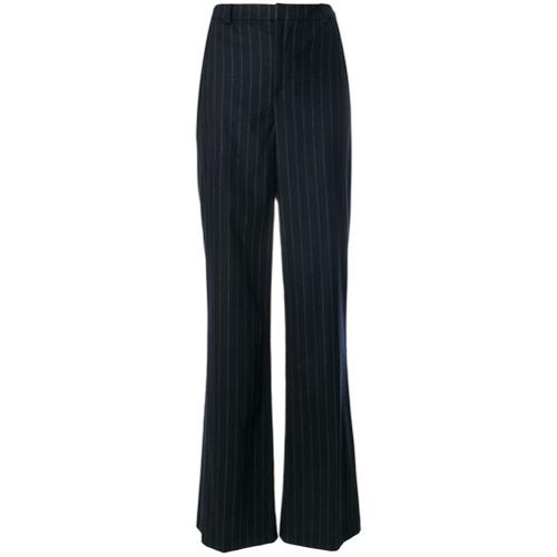 Imagen principal de producto de Pierre Balmain pantalones acampanados a rayas diplomáticas - Azul - Pierre Balmain