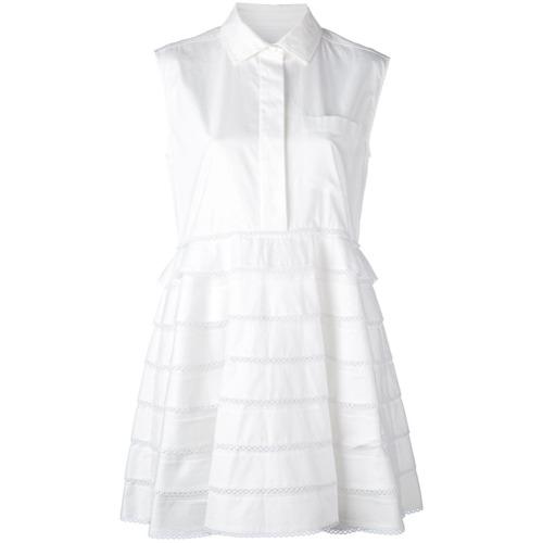 Imagen principal de producto de Carven vestido camisero con volantes - Blanco - Carven
