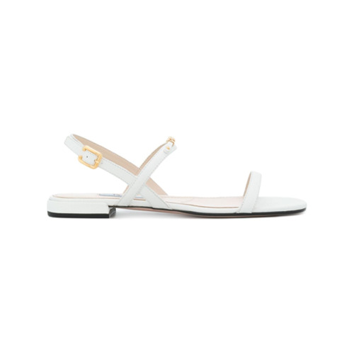 Imagen principal de producto de Prada sandalias con placa con logo - Blanco - Prada