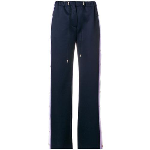 Imagen principal de producto de Versace pantalones con detalle de raya lateral - Azul - Versace