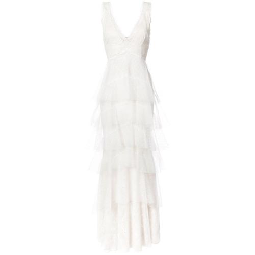 Imagen principal de producto de Marchesa Notte vestido de fiesta a capas - Blanco - Marchesa Notte