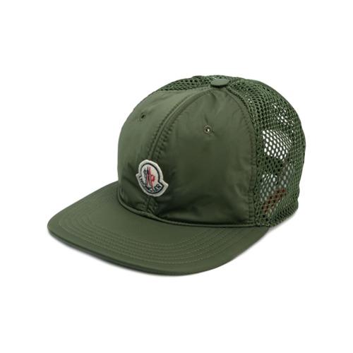 Moncler logo plaque trucker hat - Verde