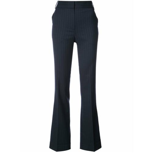 Imagen principal de producto de Tibi pantalones de talle alto a rayas diplomáticas - Azul - Tibi