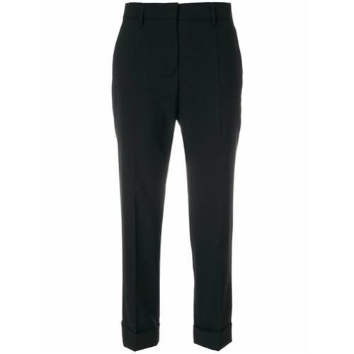 Imagen principal de producto de Prada pantalones con tobillo vuelto - Negro - Prada
