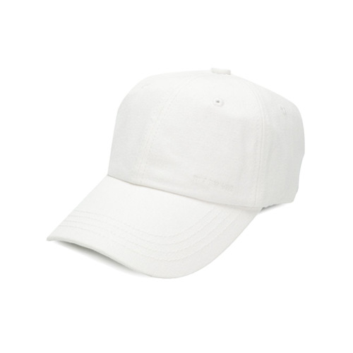 Raf Simons gorra de béisbol con logo bordado - Blanco