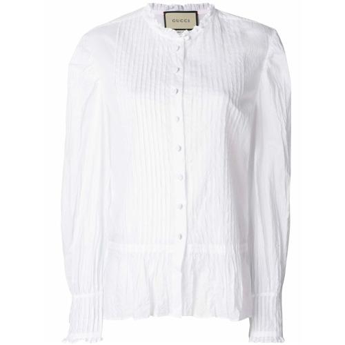 Imagen principal de producto de Gucci camisa con dobladillo con volantes - Blanco - Gucci