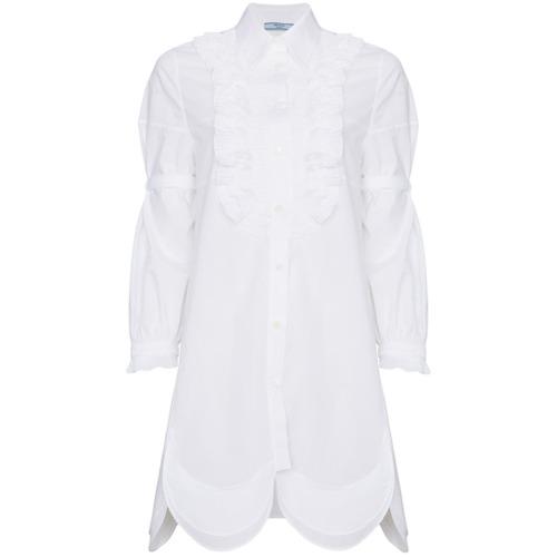Imagen principal de producto de Prada vestido camisero - Blanco - Prada
