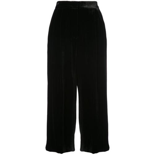 Imagen principal de producto de Tibi falda pantalón Stella de terciopelo - Negro - Tibi