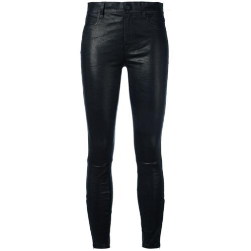 Imagen principal de producto de J Brand pantalones de pitillo con talle medio - Negro - J Brand