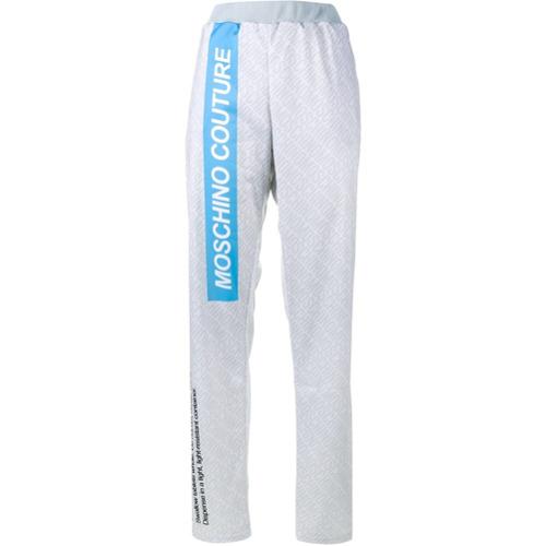 Imagen principal de producto de Moschino pantalones de chándal con motivo de tableta de pastillas - Gris - Moschino