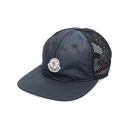 Moncler gorra con parte posterior de malla - Azul