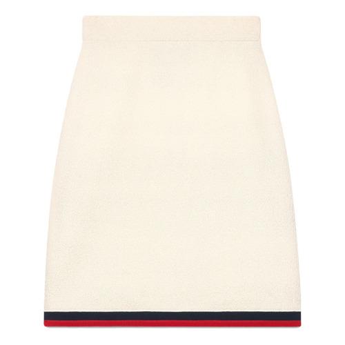 Imagen principal de producto de Gucci falda de lana con detalle Web - Blanco - Gucci