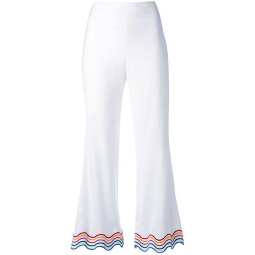 Imagen principal de producto de Sara Battaglia pantalones capri con ribete iridiscente - Blanco - Sara Battaglia