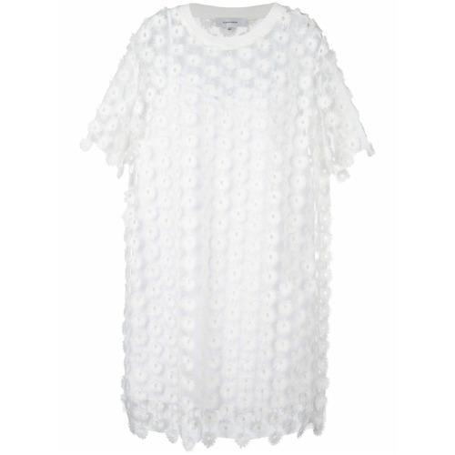 Imagen principal de producto de Carven vestido estilo camiseta de encaje - Blanco - Carven