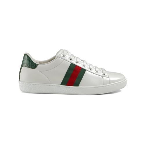 Imagen principal de producto de Gucci zapatillas de piel Ace - Blanco - Gucci
