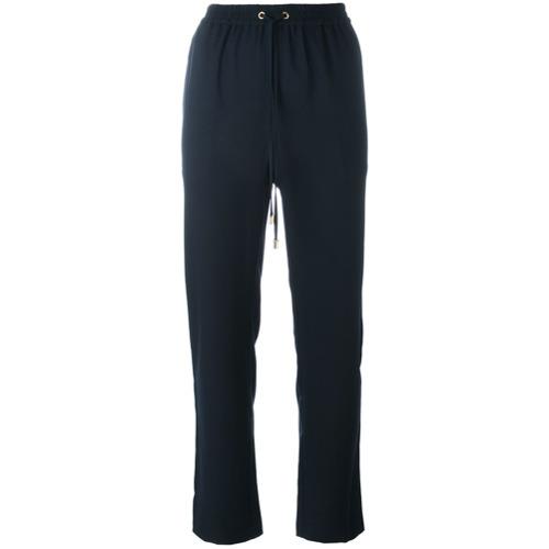 Imagen principal de producto de Michael Michael Kors pantalones rectos con cordón en la cintura - Azul - MICHAEL Michael Kors